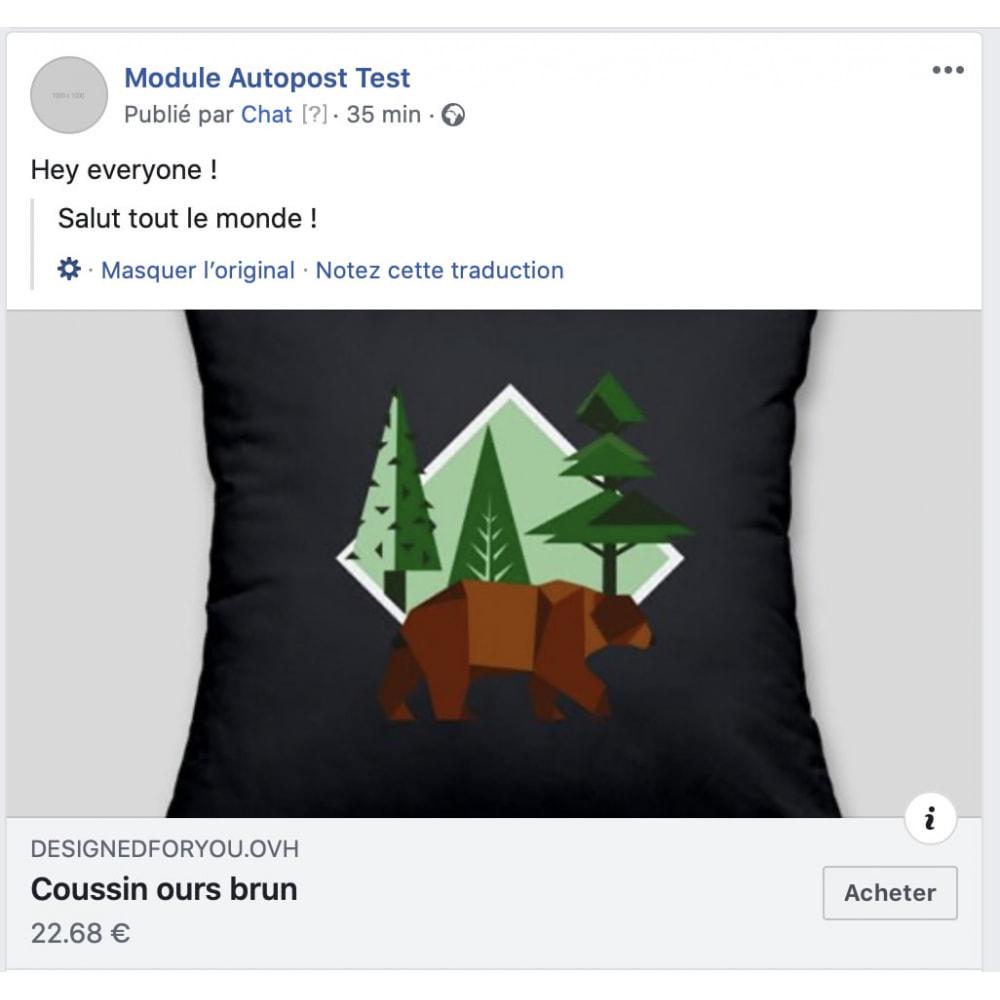 module - Produits sur Facebook & réseaux sociaux - Auto-Post Produits sur FB Wall - 1