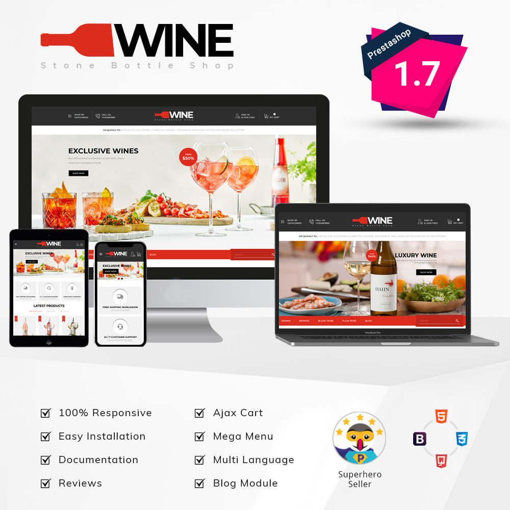 theme - Drink & Tobacco - Winestone - Liquor Shop - 1
