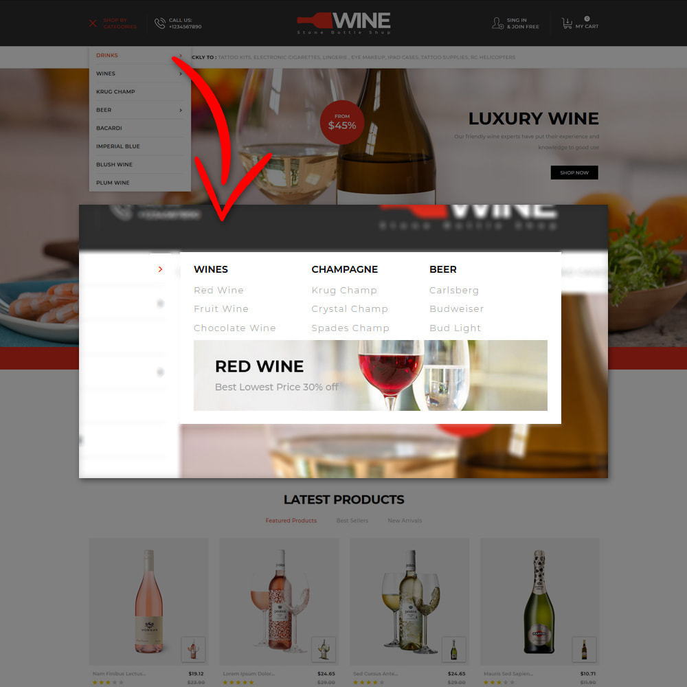 theme - Drink & Tobacco - Winestone - Liquor Shop - 9