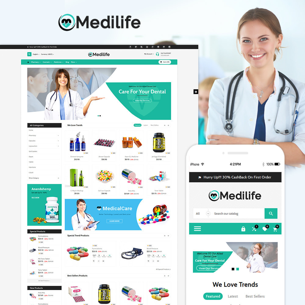 theme - Salud y Belleza - MediLife Medical Drug Store - 1