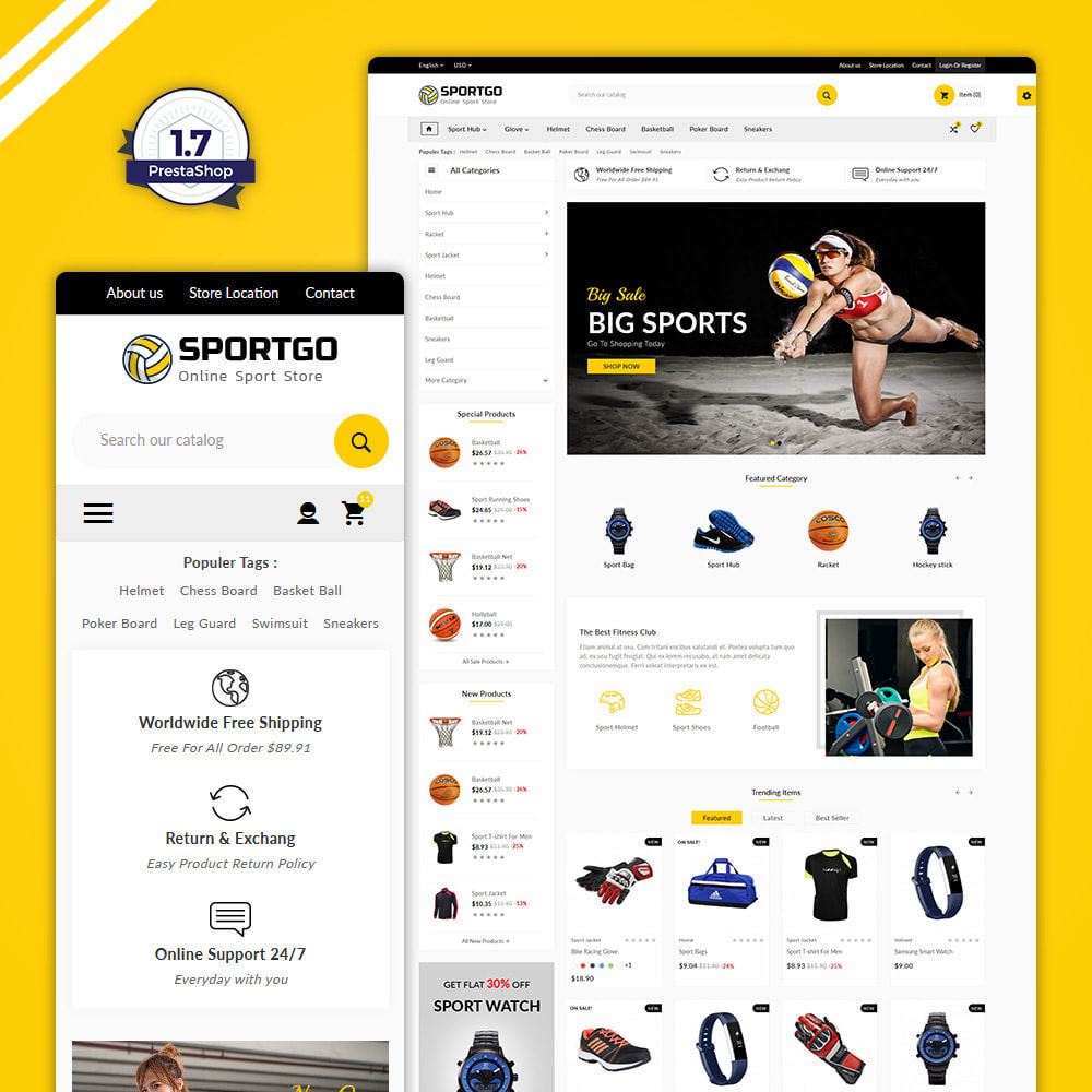 theme - Sports, Activities & Travel - Sports Accessories Shop - 1