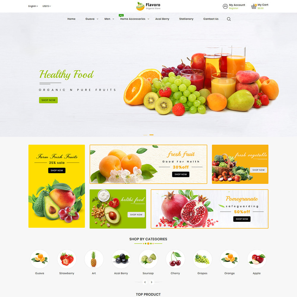 theme - Food & Restaurant - Flavoro - Fresh Organic Food Delivery Store - 3