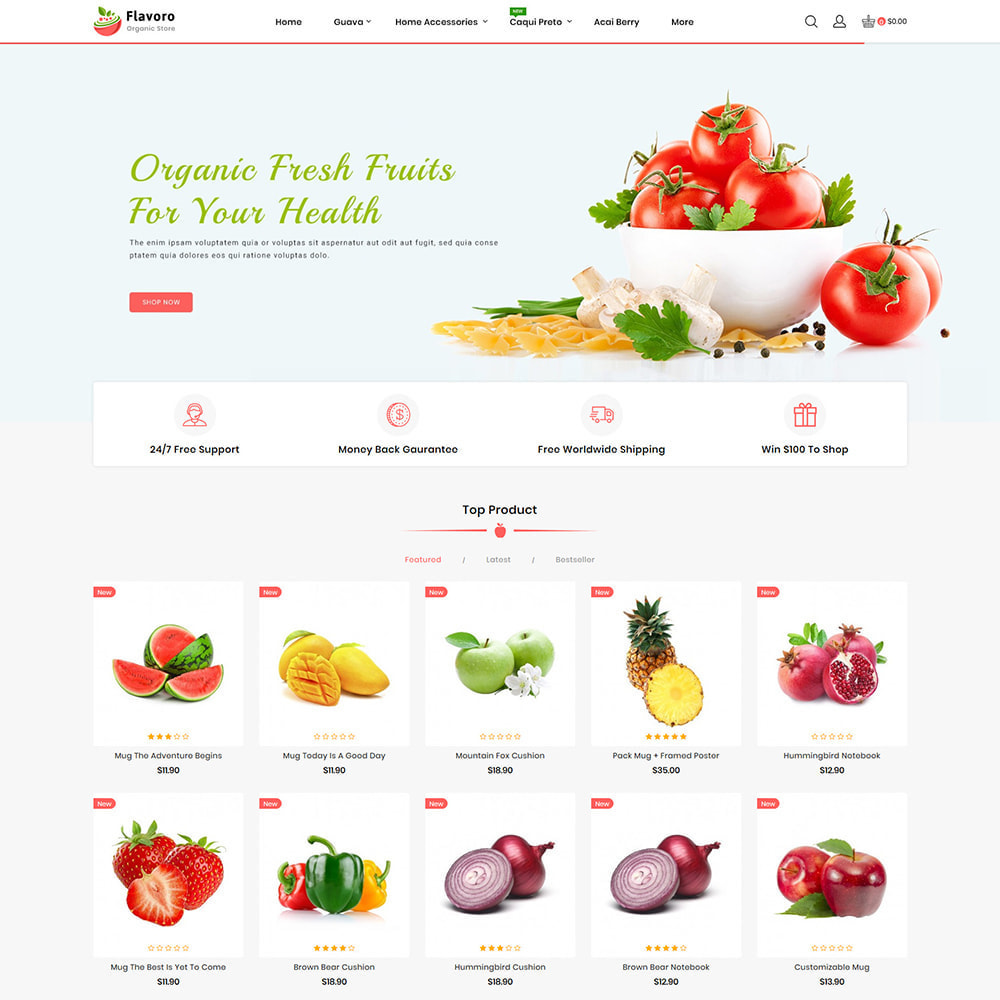 theme - Food & Restaurant - Flavoro - Fresh Organic Food Delivery Store - 4