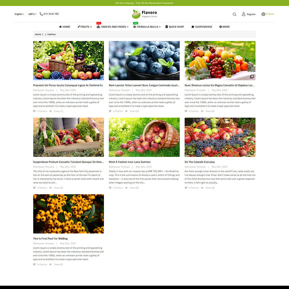 theme - Food & Restaurant - Flavoro - Fresh Organic Food Delivery Store - 11