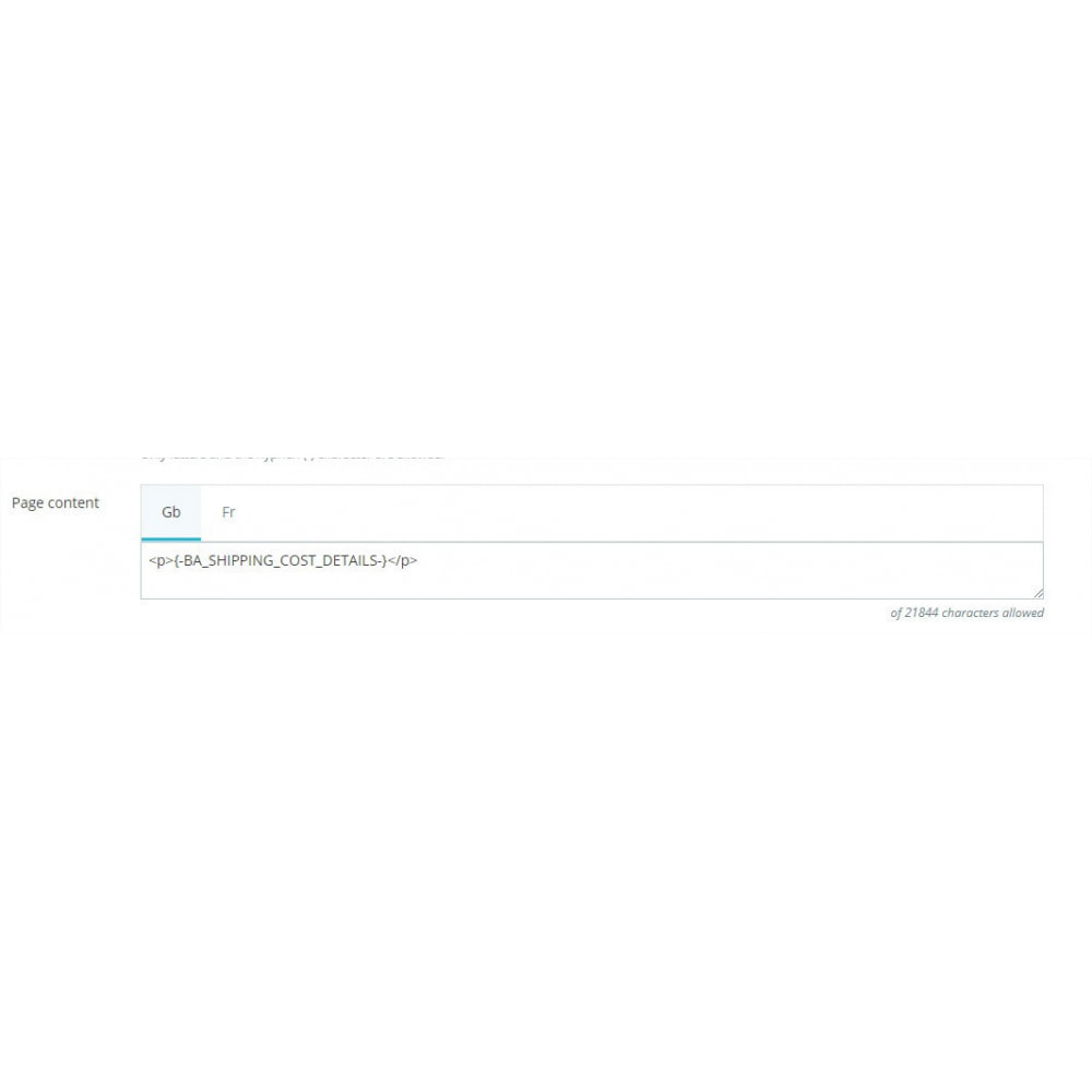 module - Spese di Spedizione - Shipping cost details - 3