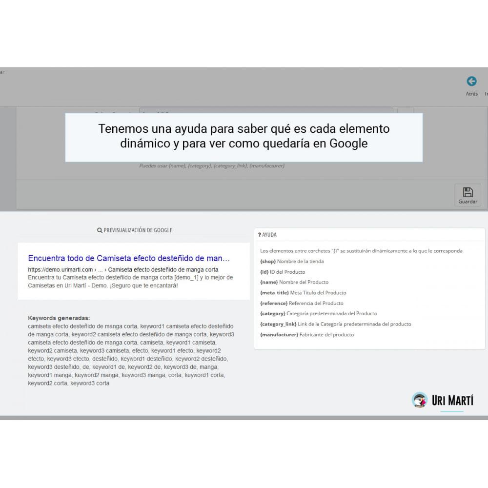 module - SEO (Posicionamiento en buscadores) - Mejora el SEO de Prestashop - 7