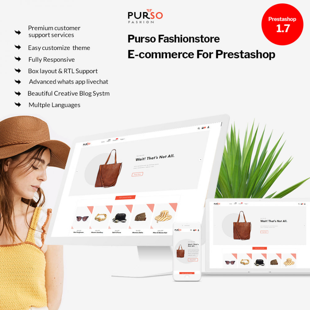 theme - Moda y Calzado - Purso - The Ladies Fashion, Purse, Bag, Men Store - 1
