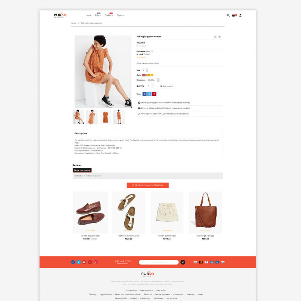 theme - Moda y Calzado - Purso - The Ladies Fashion, Purse, Bag, Men Store - 3