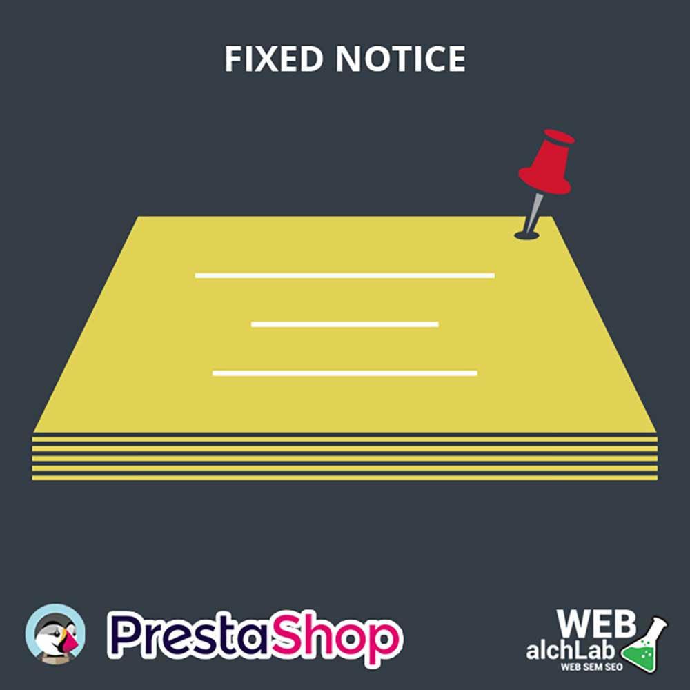 module - Bloques, Pestañas y Banners - Fixed Notice para Prestashop - 1