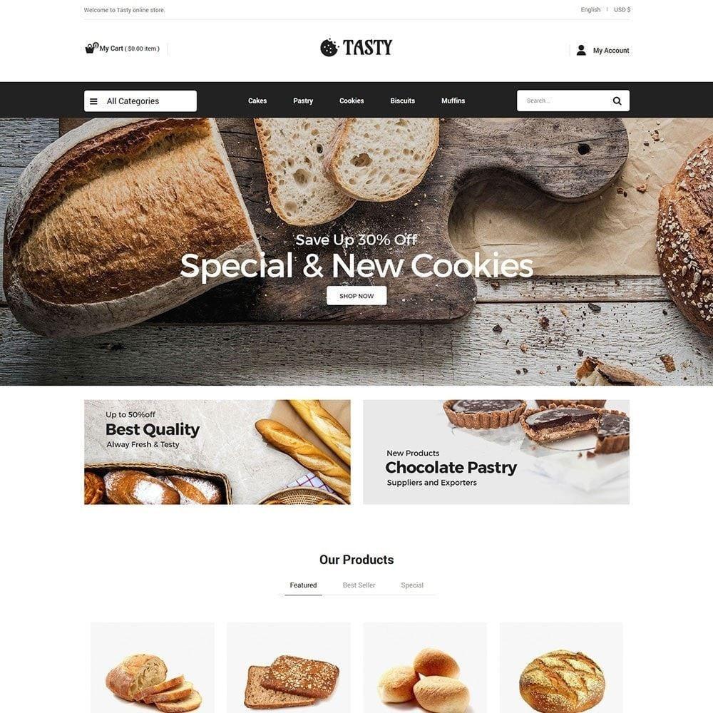 theme - Food & Restaurant - Tasty Bakery  - Pizza Bread Burger Store - 2