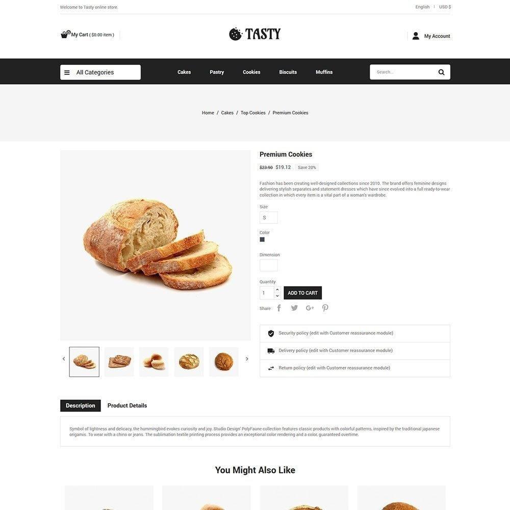 theme - Food & Restaurant - Tasty Bakery  - Pizza Bread Burger Store - 5