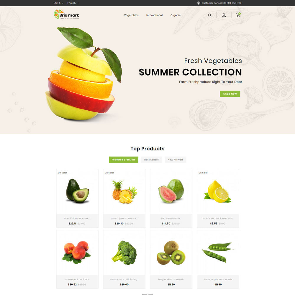 theme - Lebensmittel & Restaurants - Brismark - Vegetabels Store - 2