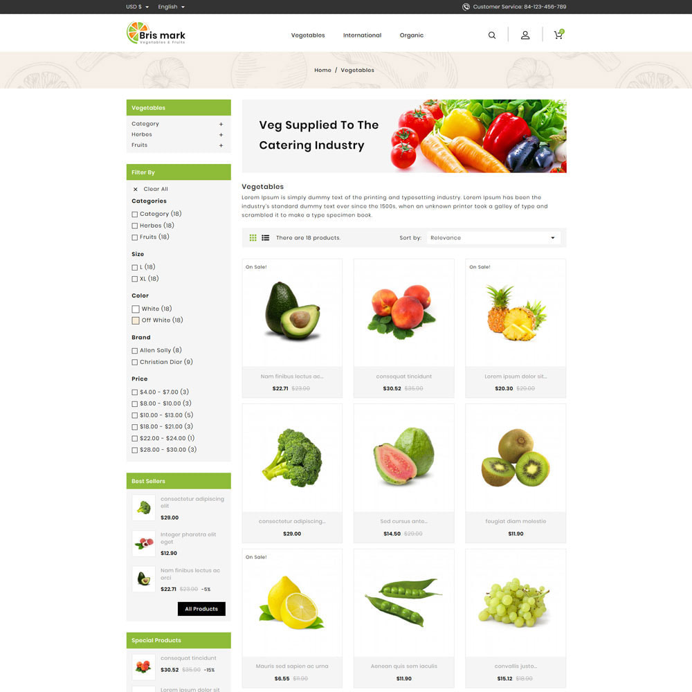 theme - Lebensmittel & Restaurants - Brismark - Vegetabels Store - 3