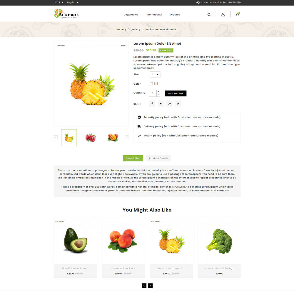 theme - Lebensmittel & Restaurants - Brismark - Vegetabels Store - 4
