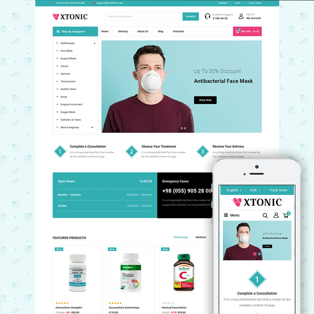 theme - Health & Beauty - Xtonic - Medicine Store - 1