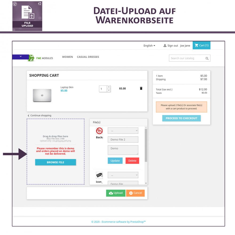 module - Zusatzinformationen & Produkt-Tabs - Datei-Upload durch den Kunden - 4