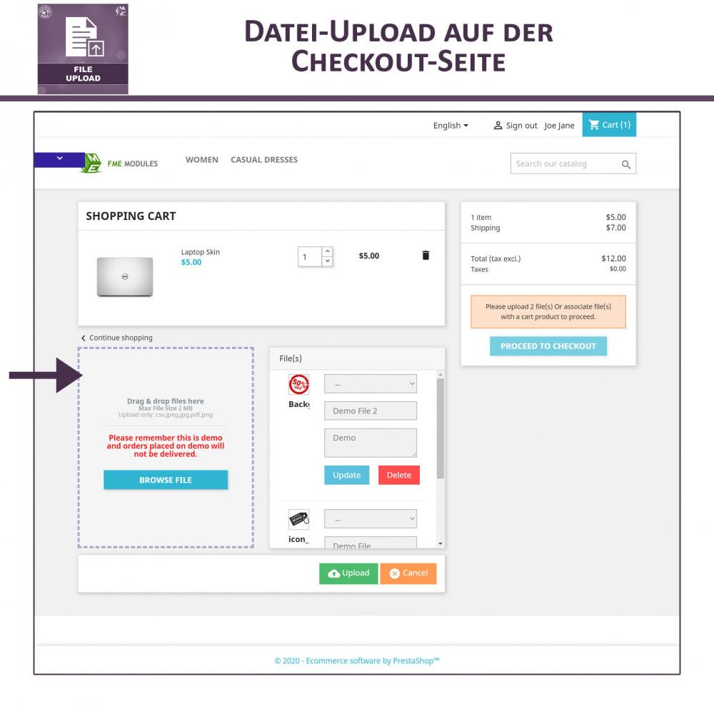 module - Zusatzinformationen & Produkt-Tabs - Datei-Upload durch den Kunden - 5