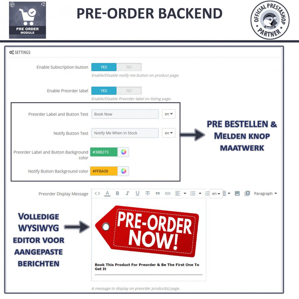 module - Registratie en Proces van bestellingen - Vooruit Bestellen en Wachtlijst Notificatie - 10