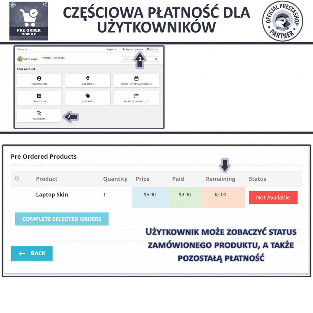 module - Procedury składania zamówień - Pre-Order - Advance Booking | Out of Stock Selling - 8