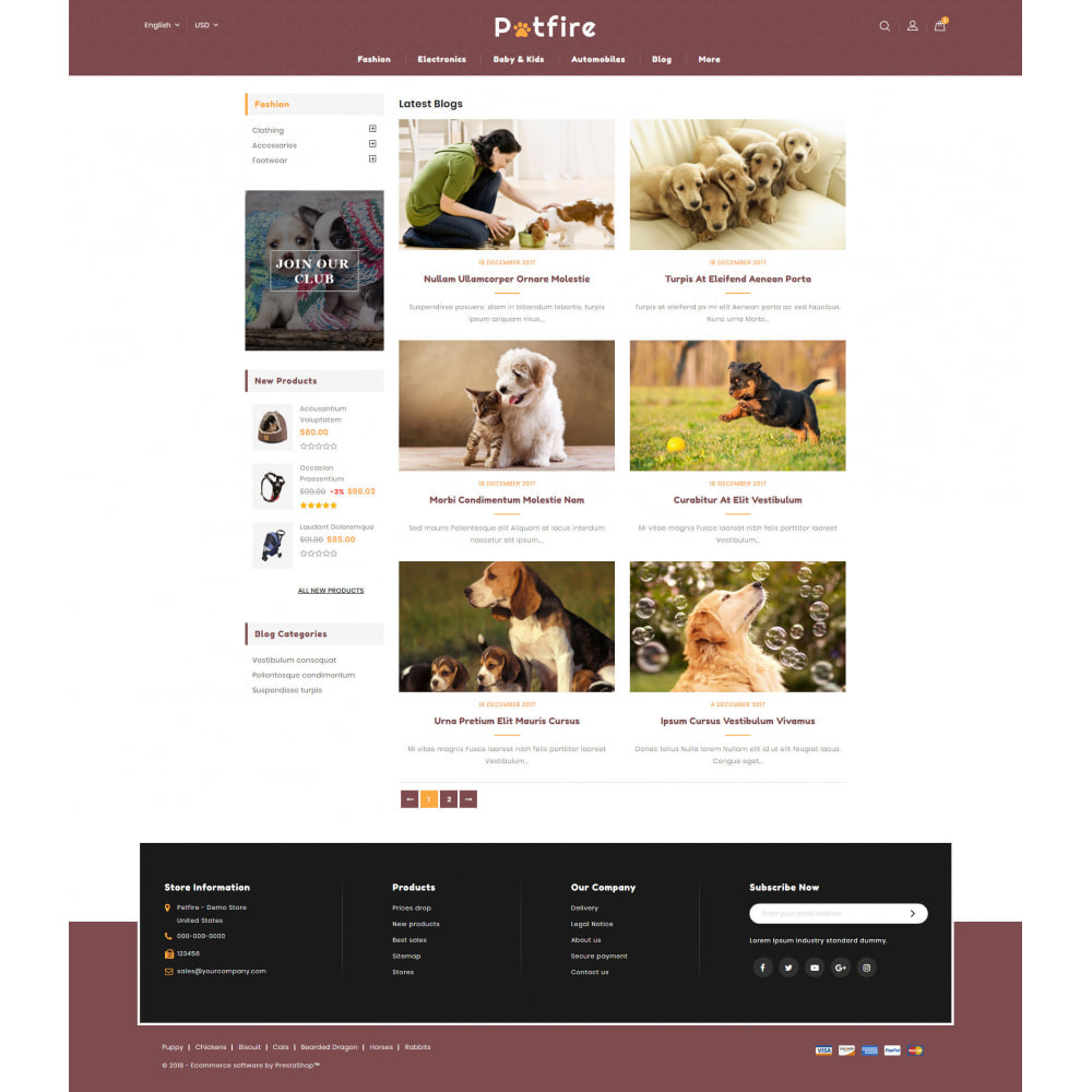 theme - Animais - Petfire - Animals Store - 9