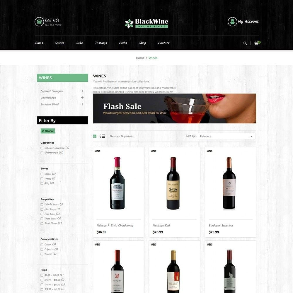theme - Boissons & Tabac - Black Alcohol Drink - Wine Store - 3