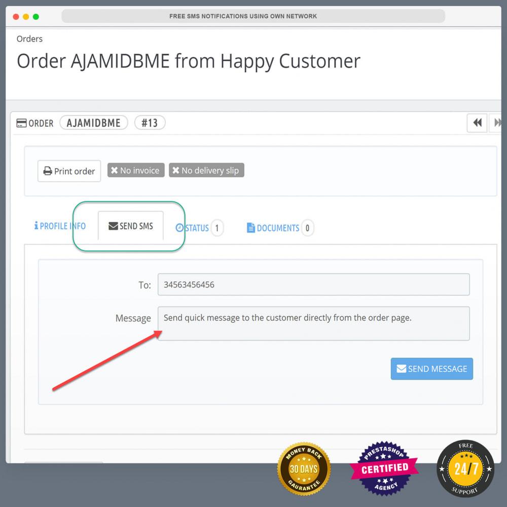 module - Newsletter & SMS - Kostenlose SMS-Benachrichtigungen mit eigenem Netzwerk - 8