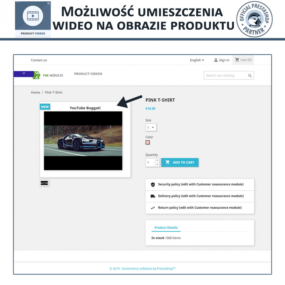 module - Wideo & Muzyka - Product Videos - Upload or Embed YouTube, Vimeo - 3
