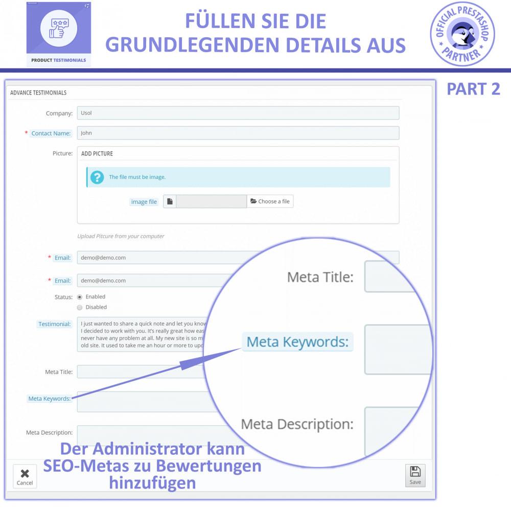 module - Kundenbewertungen - Kunden Produktbewertungen + Shop Bewertungen - 5