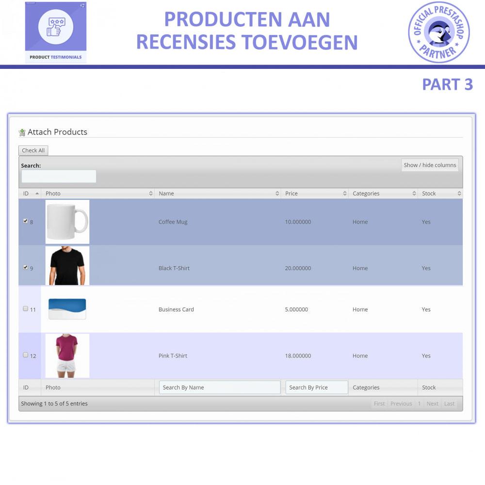 module - Klantbeoordelingen - Klant Productbeoordelingen + Getuigenissen van Winkels - 6