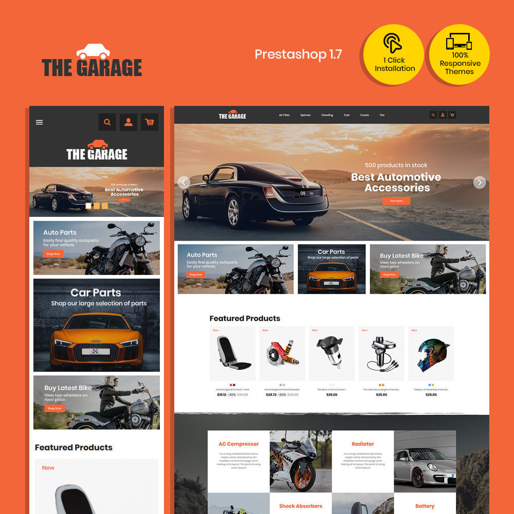 theme - Auto & Moto - The Garage Car - Magasin d'automobiles - 1