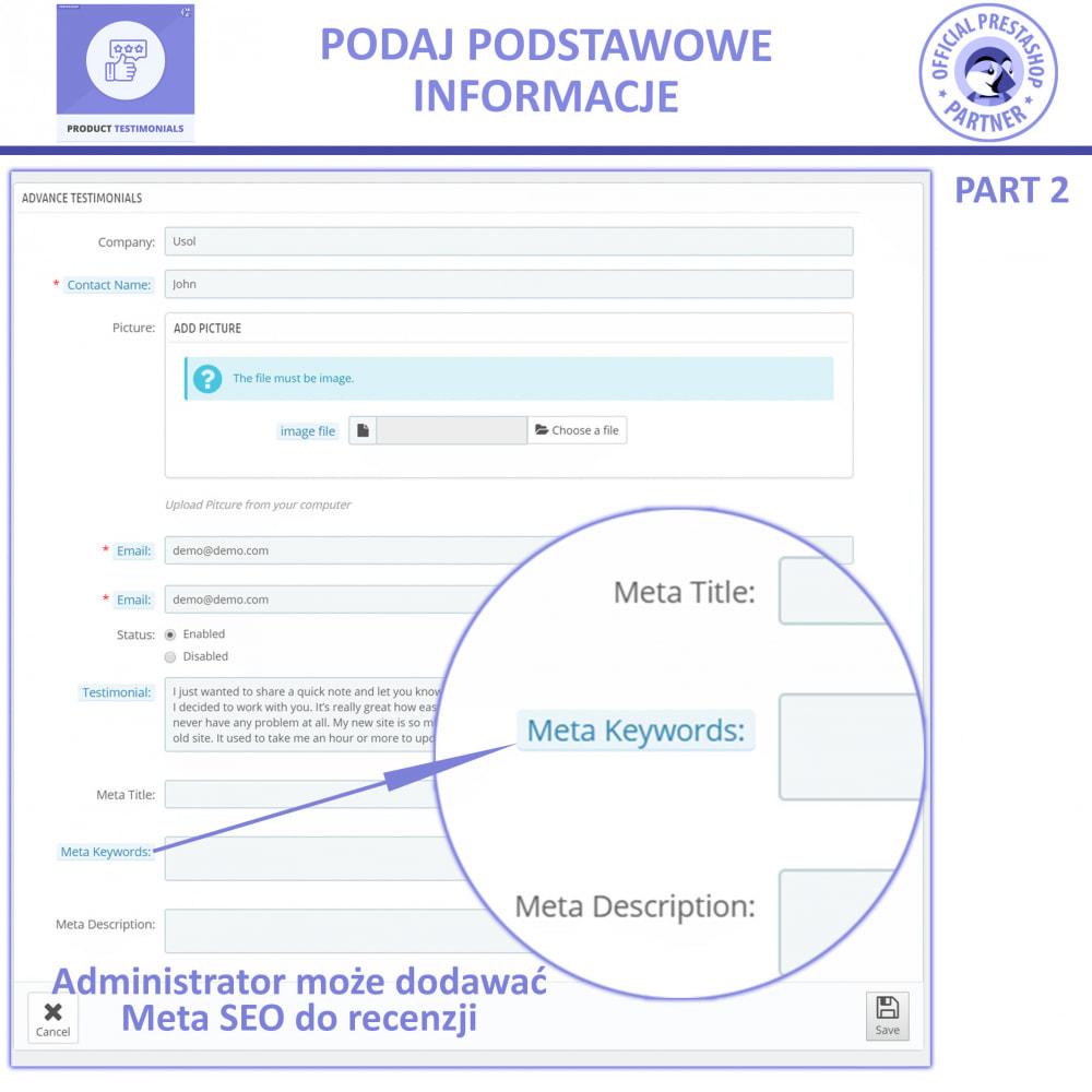 module - Opinie klientów - Recenzje Klientów + Referencje Sklepu - 5