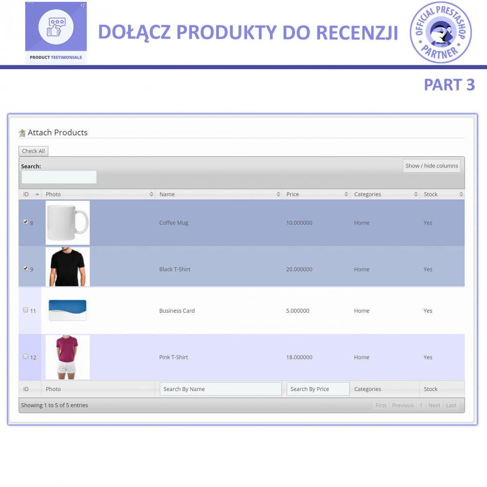 module - Opinie klientów - Recenzje Klientów + Referencje Sklepu - 6