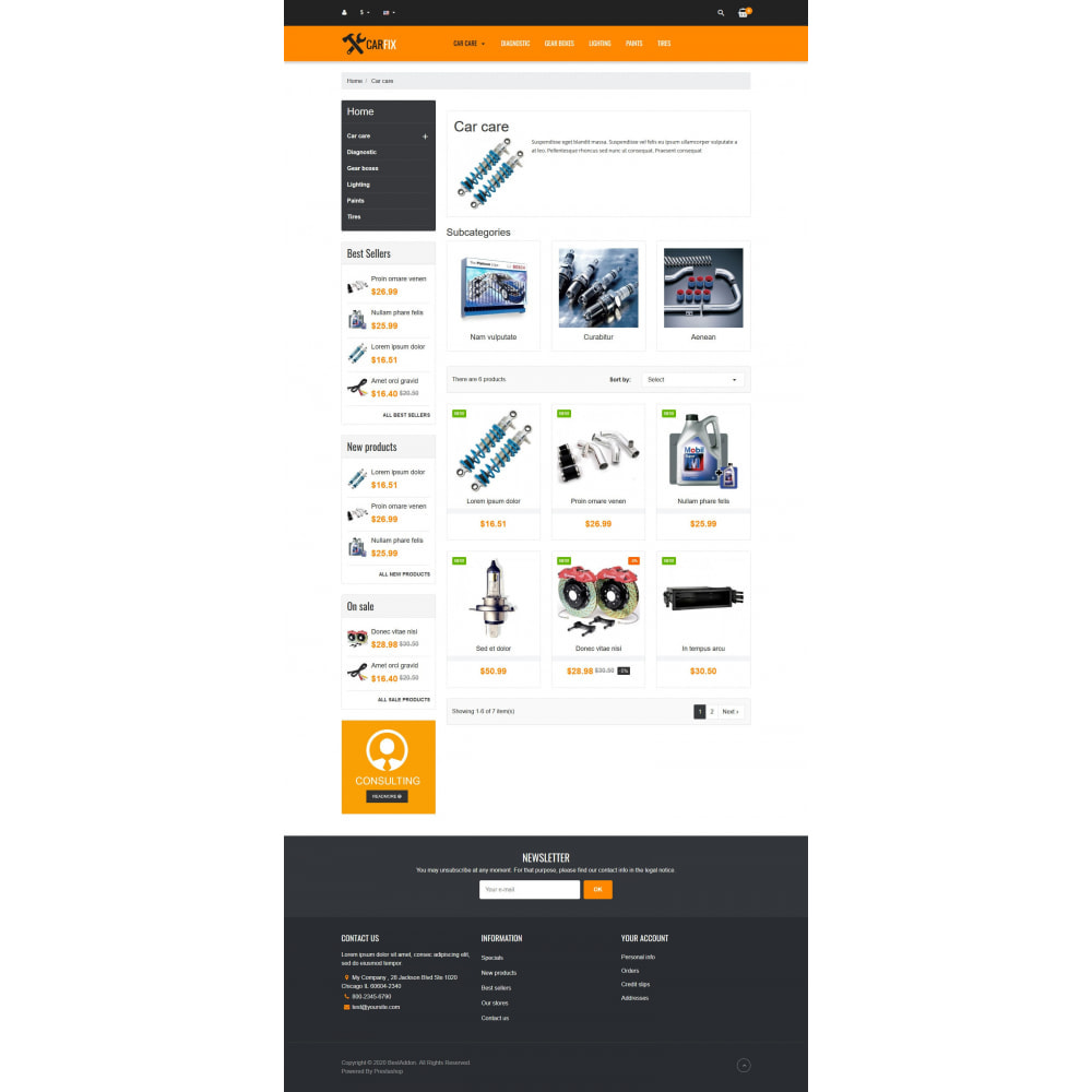 theme - Coches y Motos - VP_CarFix - Page Builder - 3