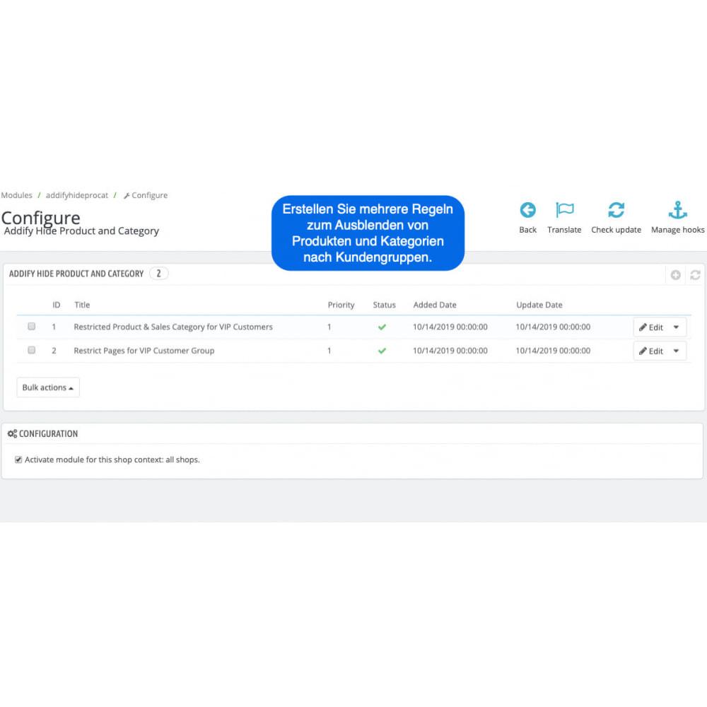 module - Kundenverwaltung - Private Produkte und Kategorien nach Kundengruppen - 1