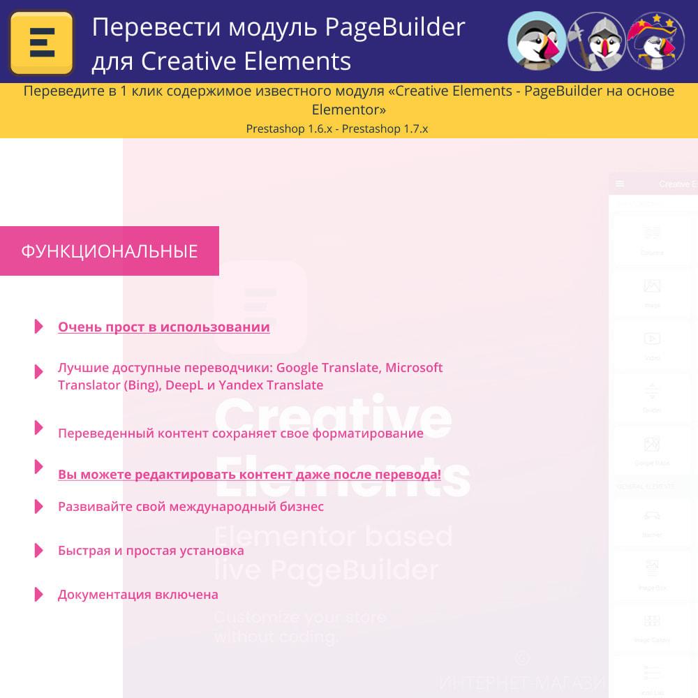module - Международный рынок и геолокация - Translate The Creative Elements PageBuilder - 1