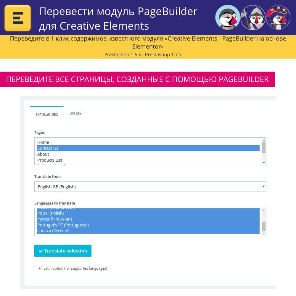 module - Международный рынок и геолокация - Translate The Creative Elements PageBuilder - 5