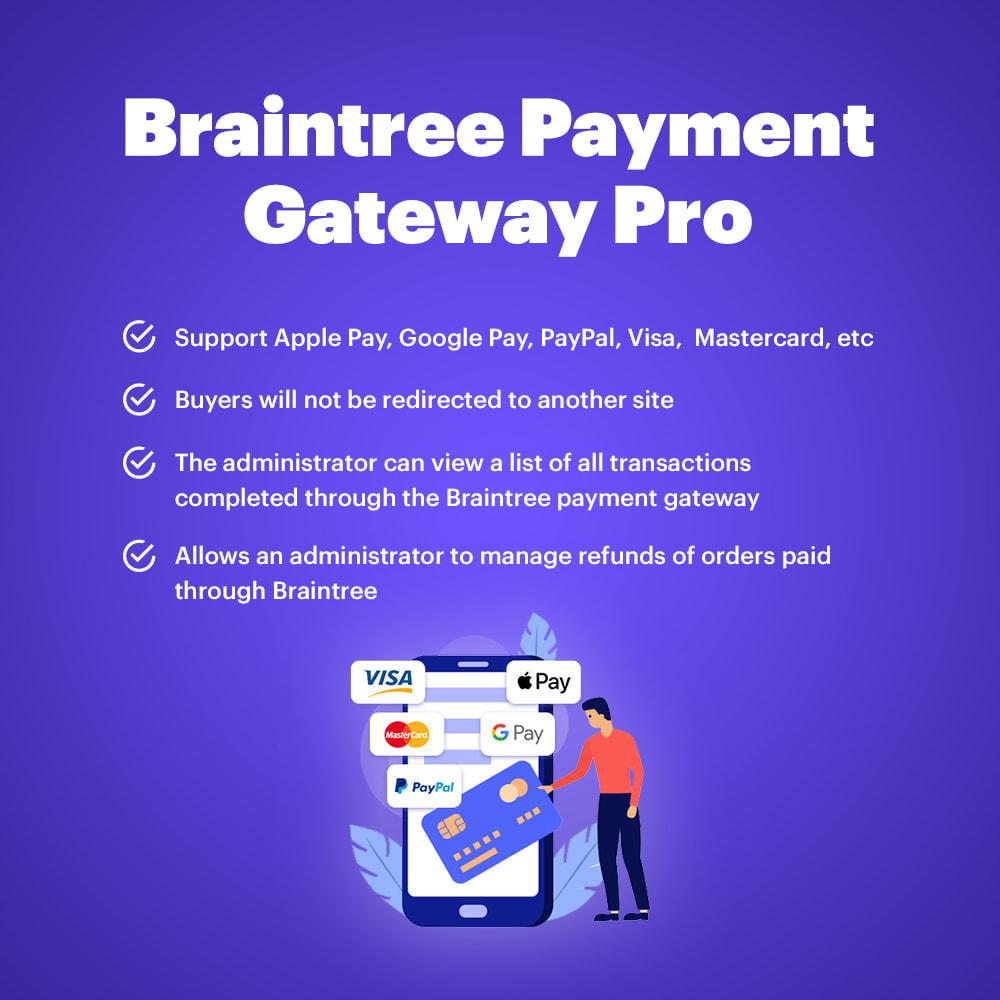 module - Оплата банковской картой или с помощью электронного кошелька - BrainTree Payment Gateway PRO for PrestaShop 1.7 - 1