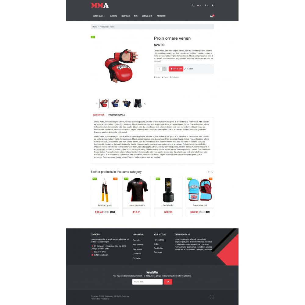 theme - Sports, Activities & Travel - VP_MMA - Page Builder - 5