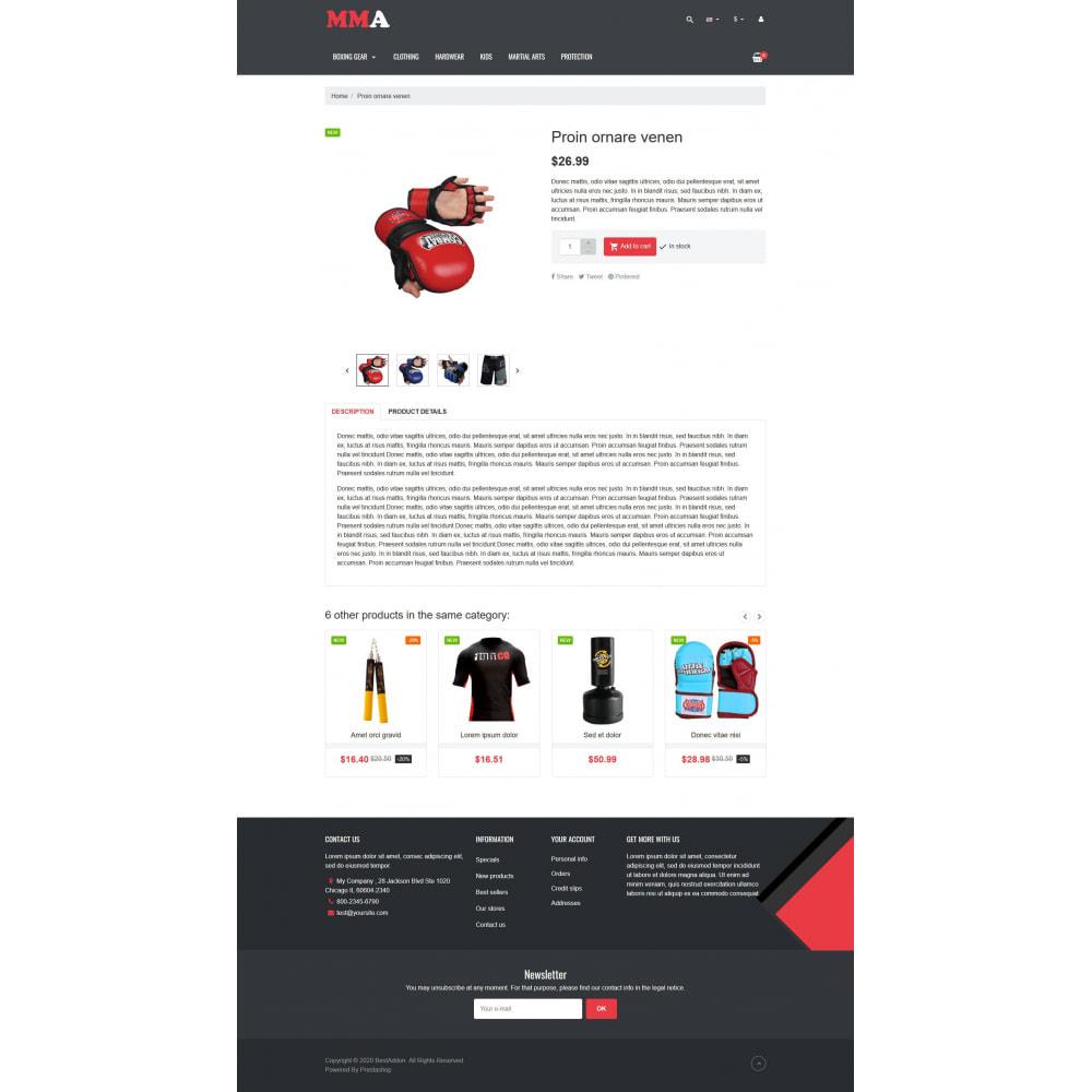 theme - Deportes, Actividades y Viajes - VP_MMA - Page Builder - 5