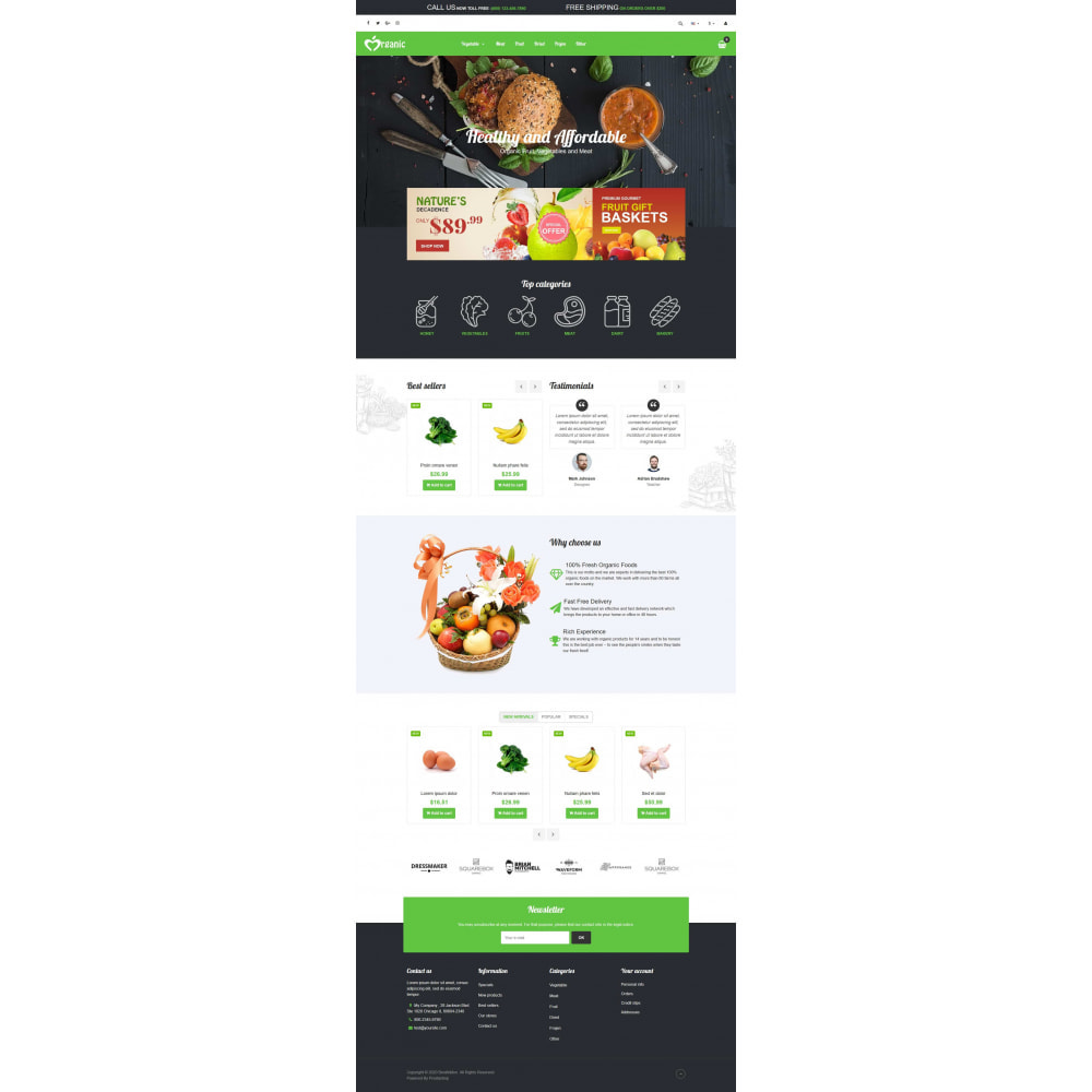 theme - Lebensmittel & Restaurants - VP_Organic - Page Builder - 2