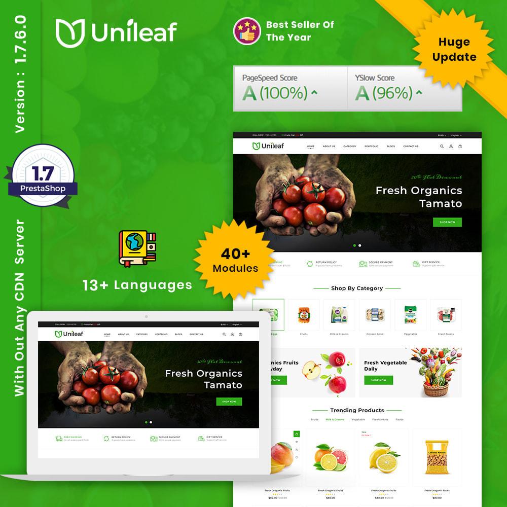 theme - Alimentation & Restauration - Unileaf Organic Store - 1