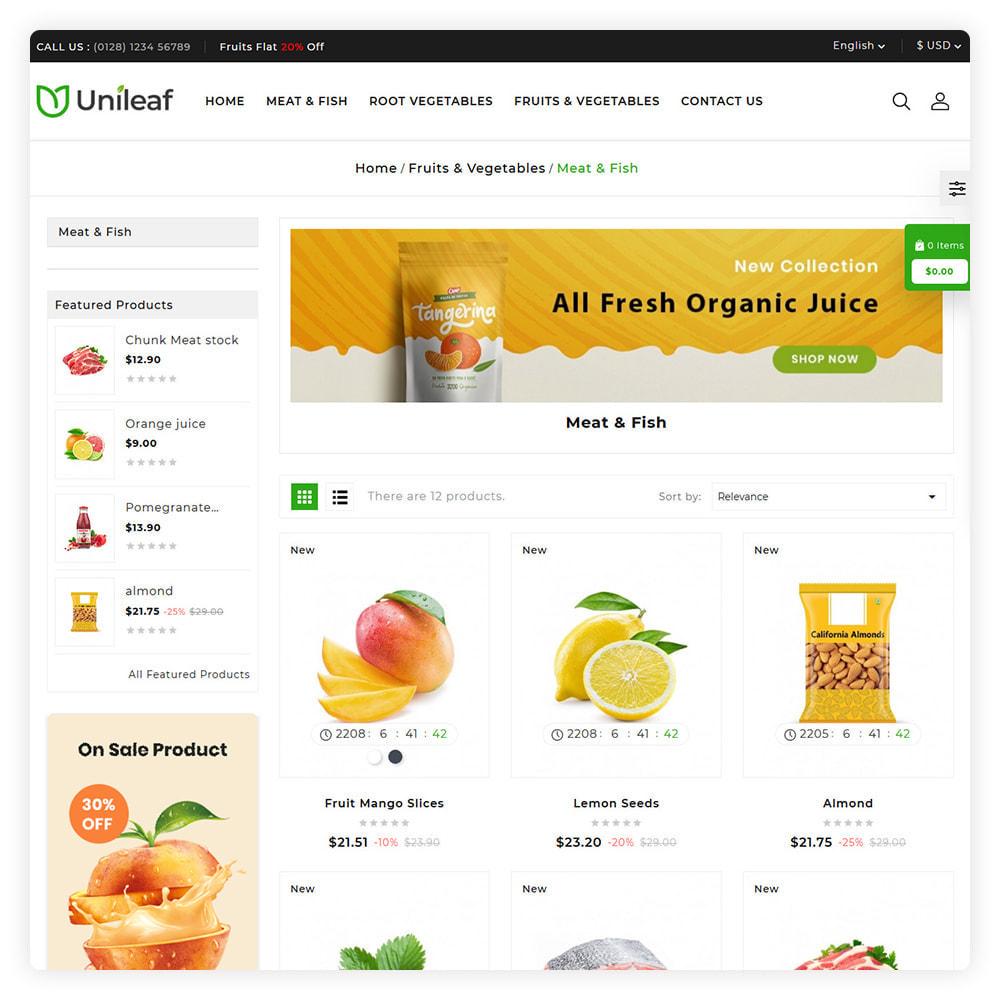 theme - Żywność & Restauracje - Unileaf Organic Store - 3