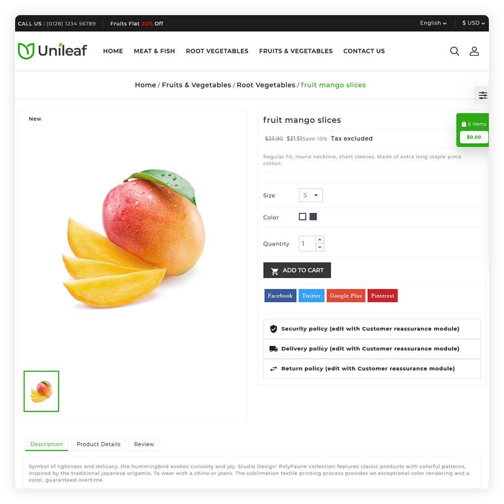 theme - Żywność & Restauracje - Unileaf Organic Store - 5