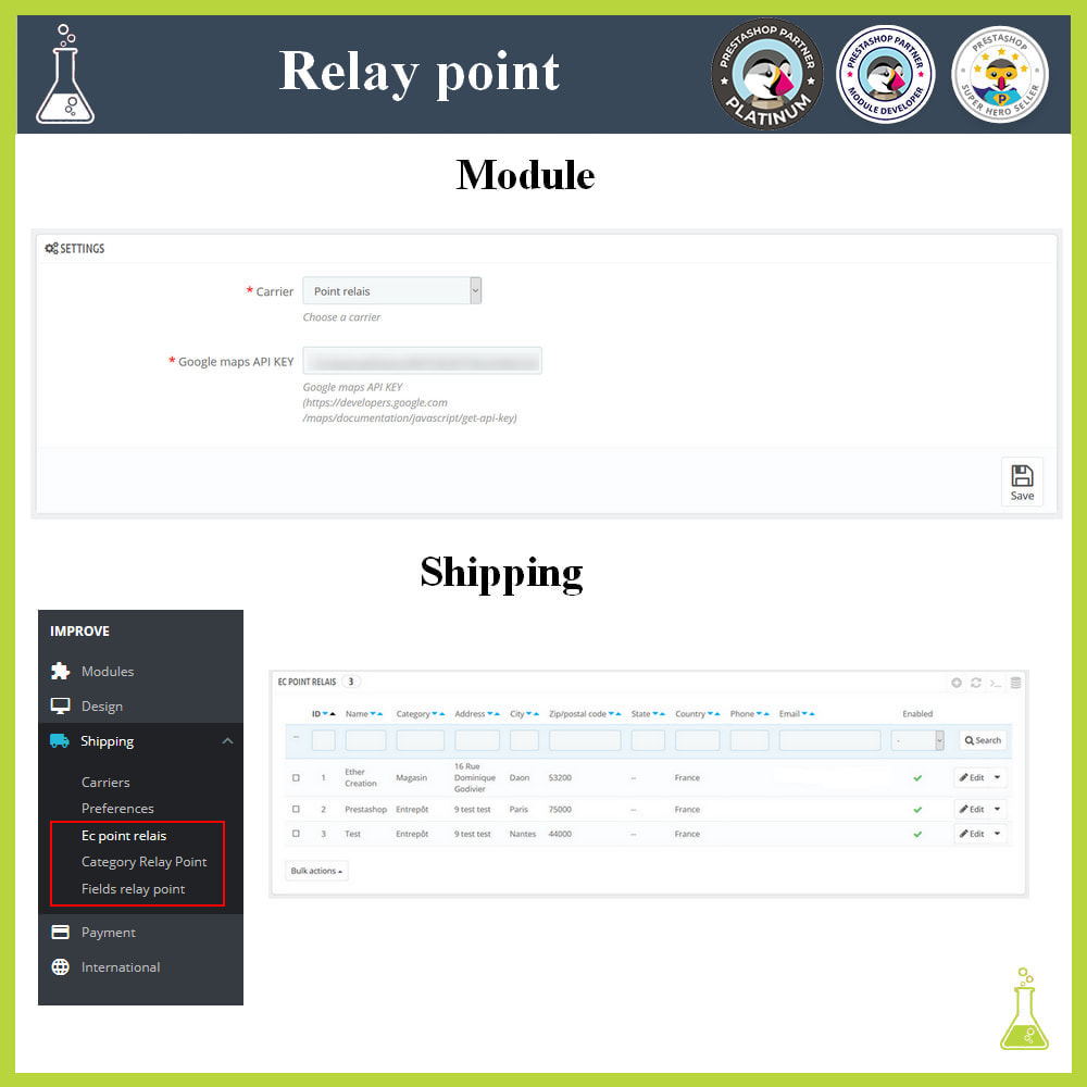 module - Abholstationen & Selbstabholer - Manage your relay points - 1