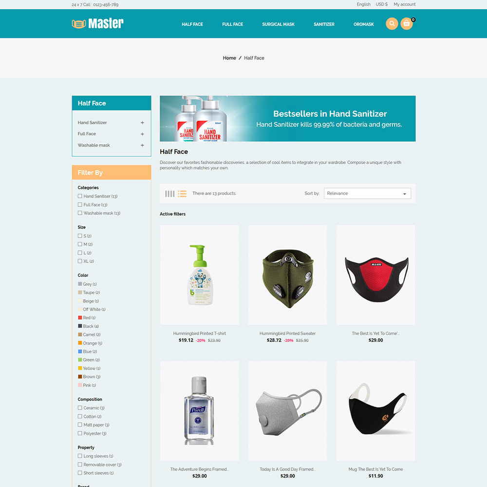 theme - Salute & Bellezza - Medical Health Mask - Sanitizer Store - 4