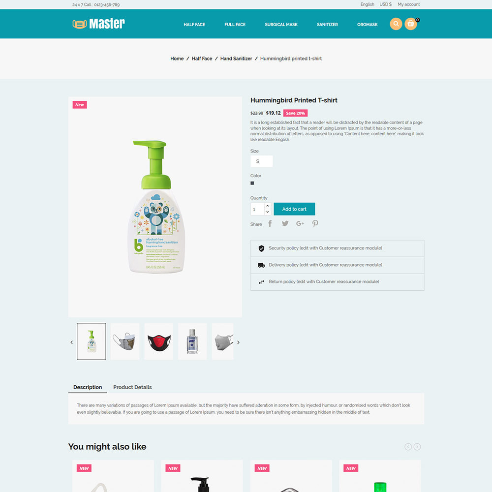 theme - Salute & Bellezza - Medical Health Mask - Sanitizer Store - 5