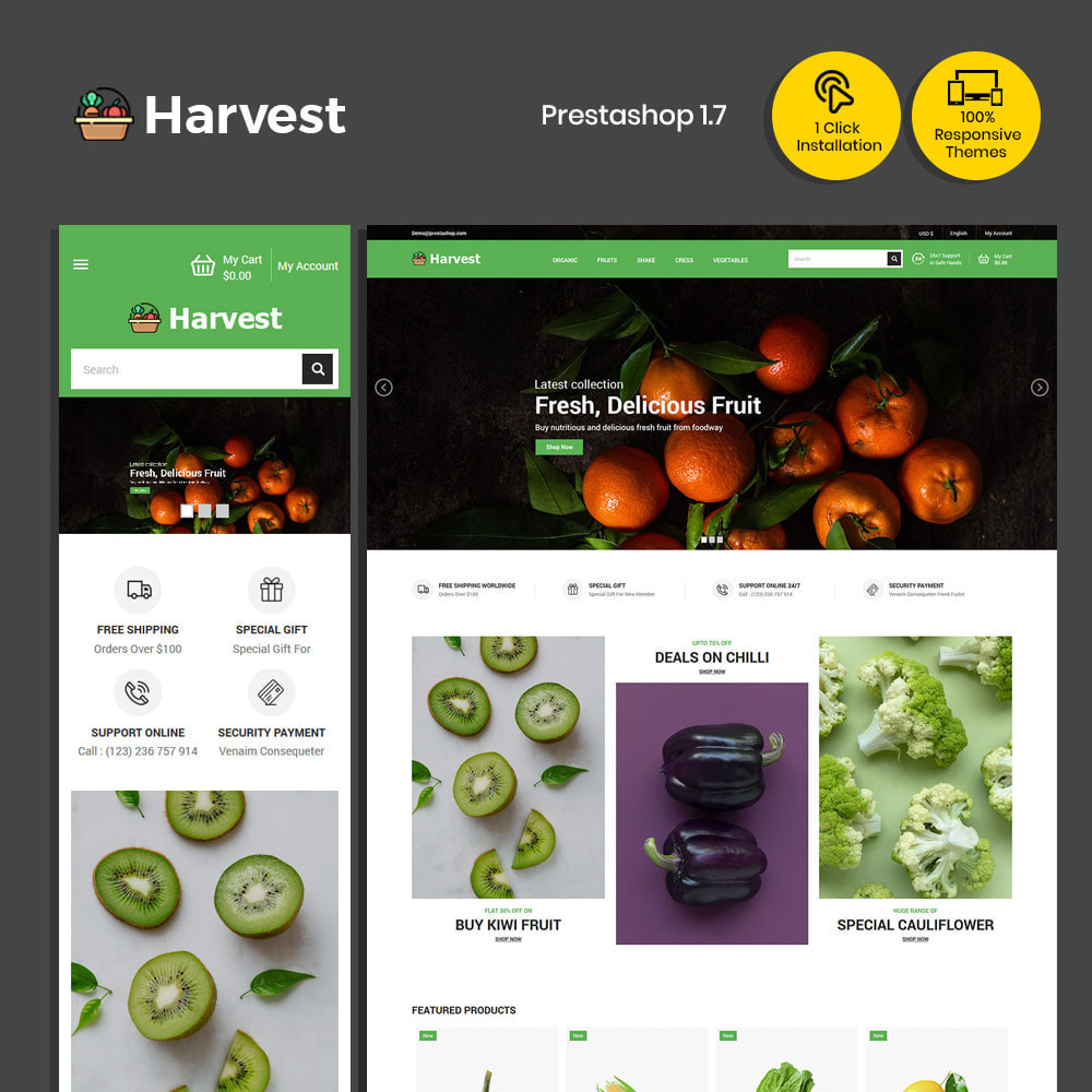 theme - Cibo & Ristorazione - Harvest Vegetables - Negozio di frutta fresca - 2