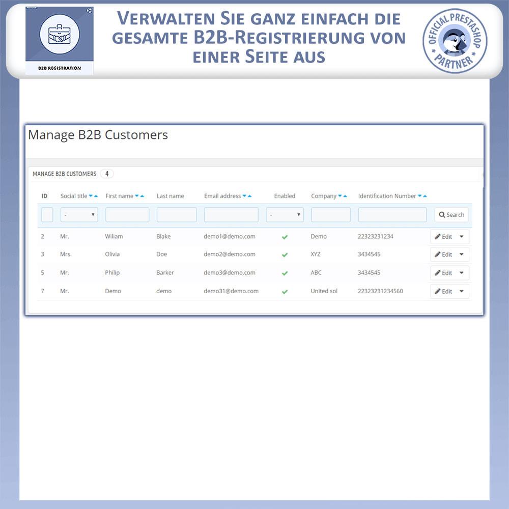 module - Anmeldung und Bestellvorgang - B2B-Registrierung - 5