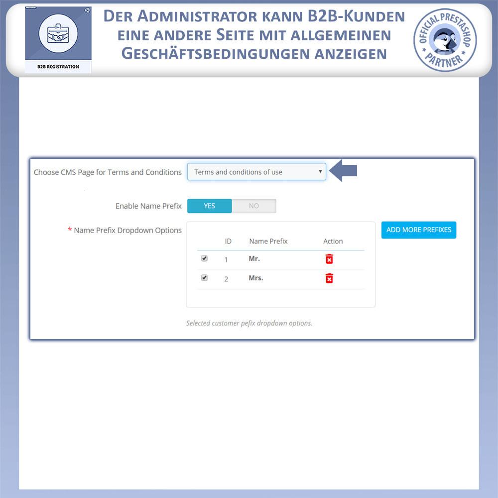 module - Anmeldung und Bestellvorgang - B2B-Registrierung - 7