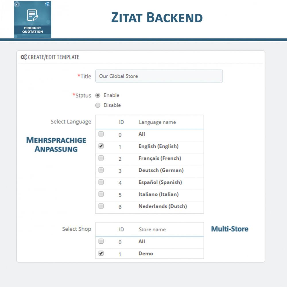 module - Angebotsmanagement - Produkt Zitat Modul - 7